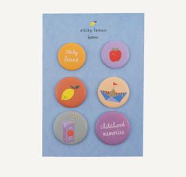 Sticky Lemon   Childhood Memories - Buttons (set van 6)