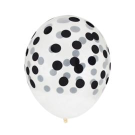 My Little Day Confetti Ballonnen Zwart
