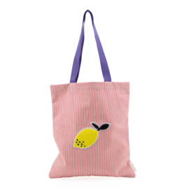 Sticky Lemon | Shopper / Tote bag rood-wit gestreept