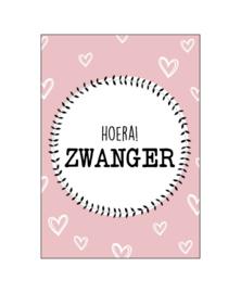 Ansichtkaart Hoera! Zwanger