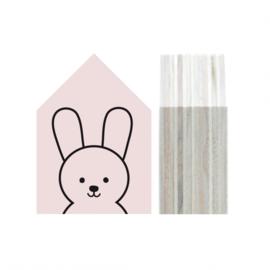 Dots Lifestyle - Houten huisje Bunny (zachtroze)