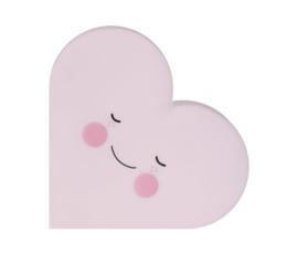 Eef Lillemor Nachtlampje Hart (roze)