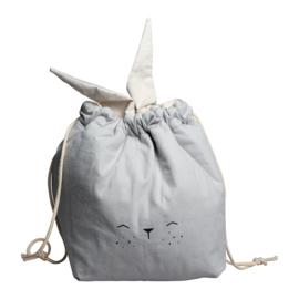 Fabelab | Stevige Opbergzak Bunny Ice Grey (22 x 28 cm)