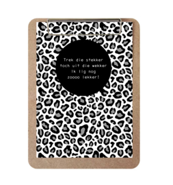Label-R | Klembord Met Print Panter Wekker