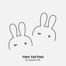 BoPoMoFo | Water print tattoo BunnyEar