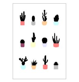Ingrid Petrie Design - Cacti print (A4)