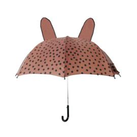 VanPauline | Paraplu Bunny - BrownPink Dots