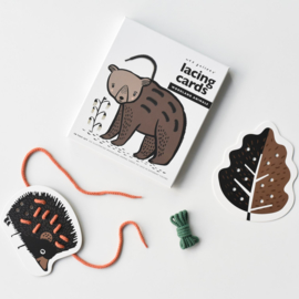 Wee Gallery | Rijgkaarten / Lacing Cards - Woodland Animals