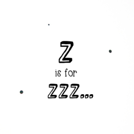 Oh My Goody | Z is for ZZZZ... muursticker