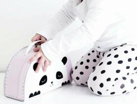 Kids Boetiek kartonnen koffertje Panda (roze)
