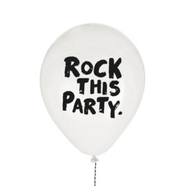 VanPauline | Ballonnen Rock This Party (8 stuks)