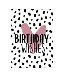 Ansichtkaart Birthday Wishes