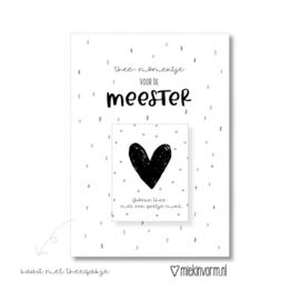 MIEKinvorm | Kaart + Theezakje Thee-Momentje Voor De Meester