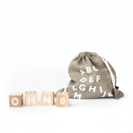 ooh noo alphabet blocks (wit)