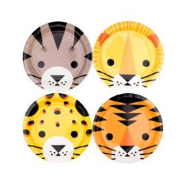 My Little Day papieren bordjes Wilde Katten (8 stuks)