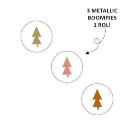 Sticker Kerstboom Assorti (3 kleuren)