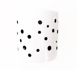 4 baby en kids | Drinkbeker dots (wit)