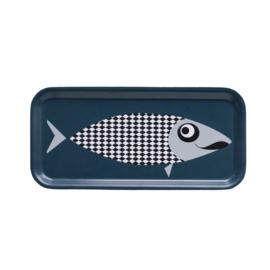 Nämä dienblad Moustache Fish 27,3 x 13,2 cm (petrol blue)
