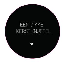 Label-R | Muurcirkel Een Dikke Kerstknuffel