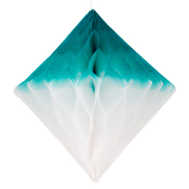 My Little Day Diamant Honeycomb (wit/teal)