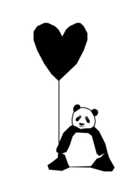 Ingrid Petrie Design - Panda print (A4)