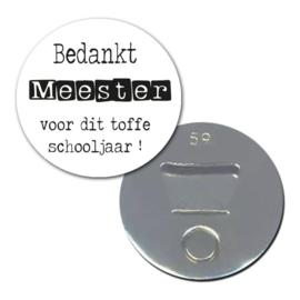 Esva Design | Opener/magneet Bedankt Meester (wit)