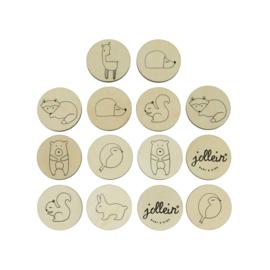 Jollein | Houten Memory Set - Forest Friends