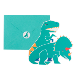 My Little Day uitnodigingen dinosaurus (8 stuks)
