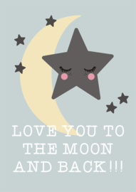 Rose in April | Print Love You to The Moon and Back (A3)