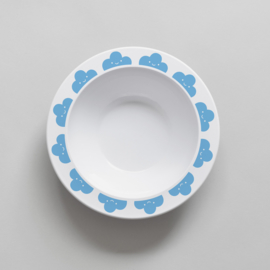 Buddy and Bear melamine kom Happy Clouds (blauw)