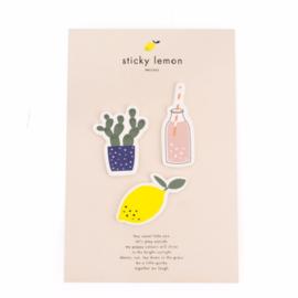 Sticky Lemon | Set van 3 patches Cactus, Citroen, Flesje Limonade
