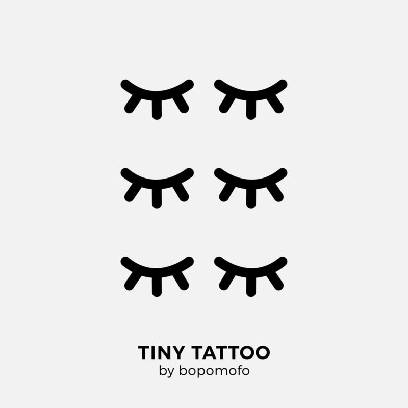 BoPoMoFo | Water print tattoo Eyelash