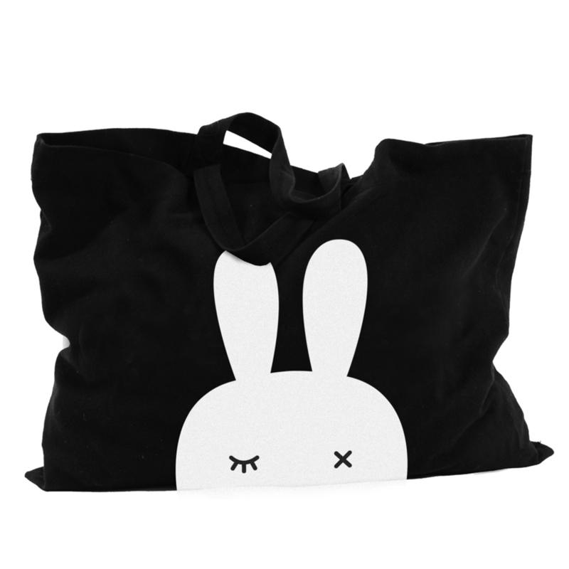 BoPoMoFo | Shopper Bunnyear (zwart)