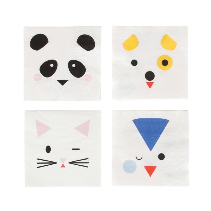 My Little Day servetten Mini Animals (20 stuks)