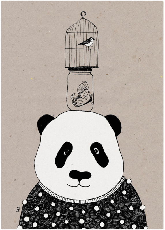 Studio Rainbow Prints - A4 Poster Panda