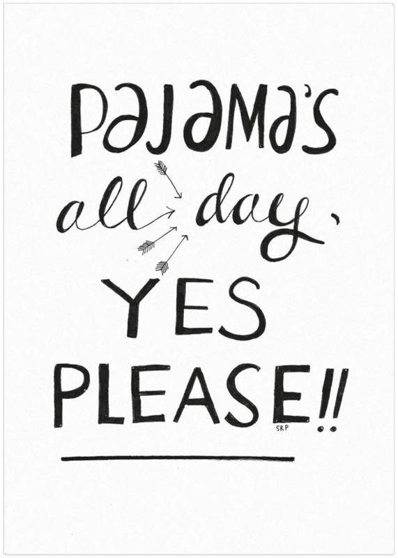 Studio Rainbow Prints - Kaart Pajama's all day