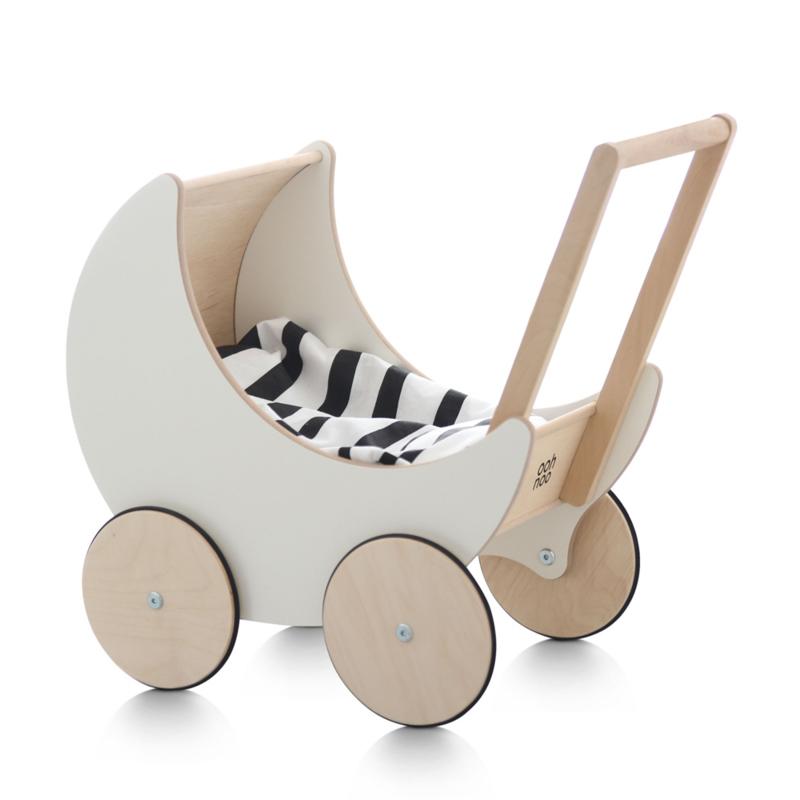 ooh noo poppenwagen hout