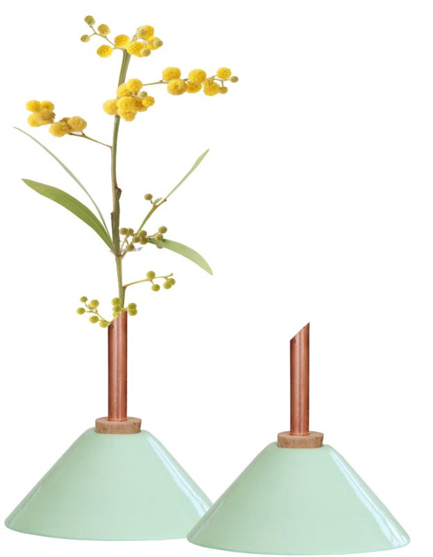 Scandinaviaform bloemenvaasje Consilium (mintgroen)