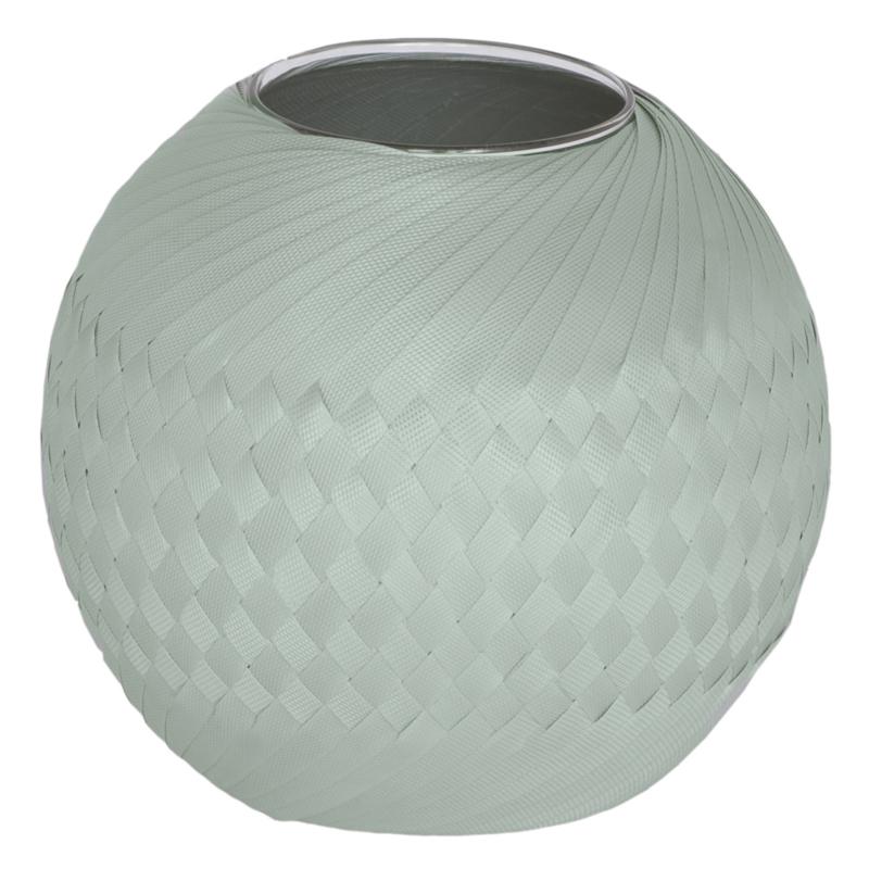 Handed By vaas Bowl 25 cm (grijsgroen)
