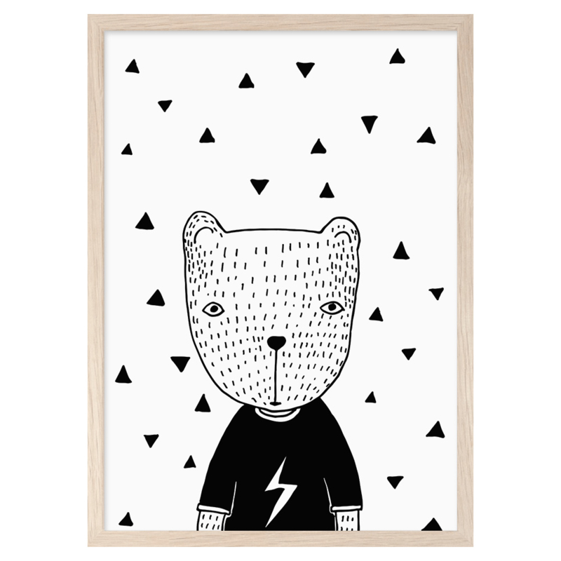 Mini Learners – Poster Bear in a t-shirt (A3)