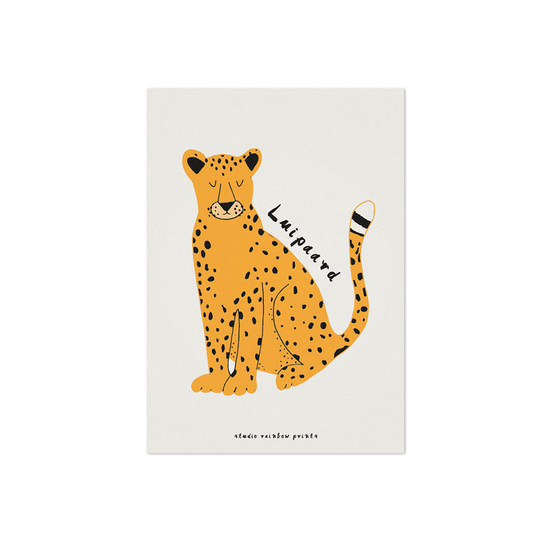 Studio Rainbow Prints - A5 poster Luipaard