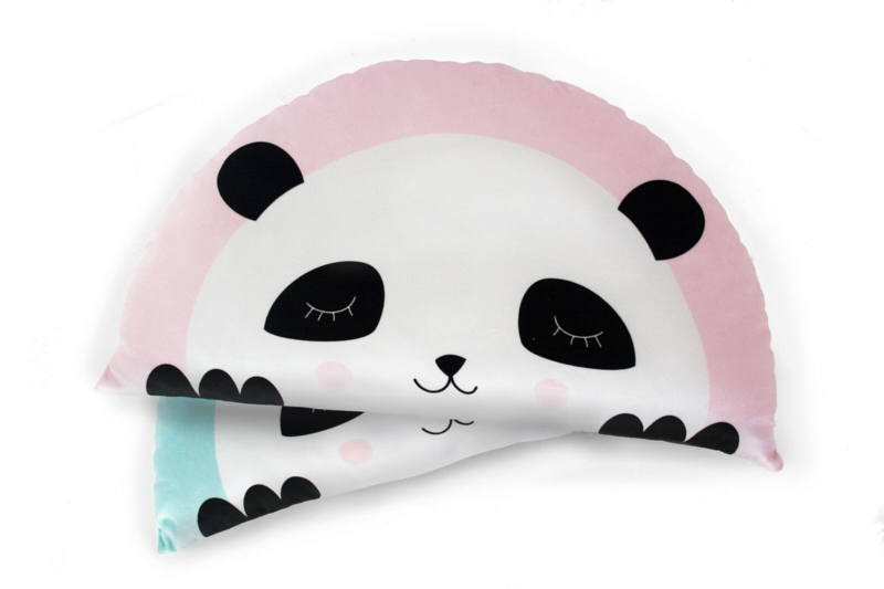 Kids Boetiek kussen Panda (roze)