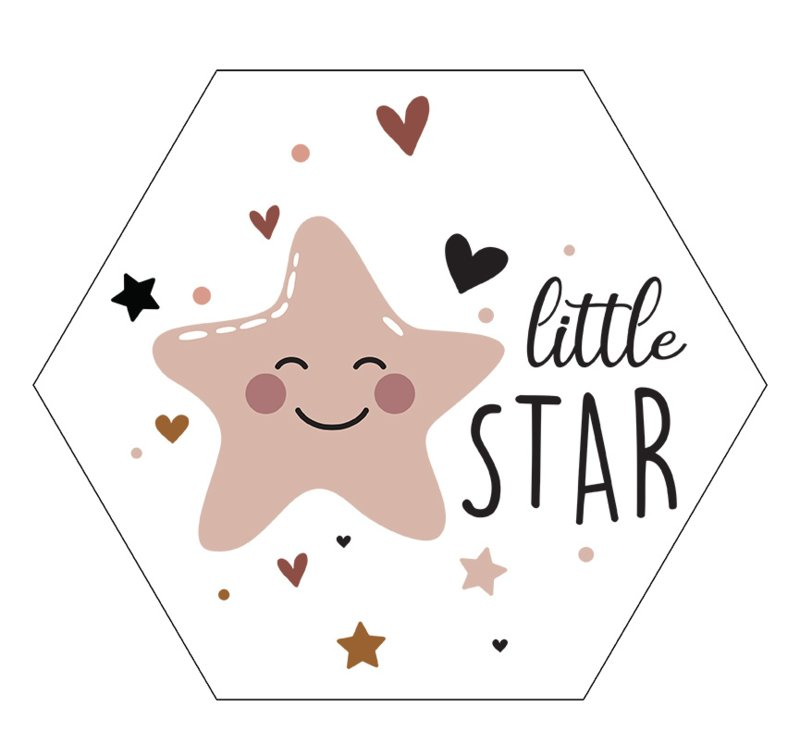 Label-R Kids | Hexagon Little Star