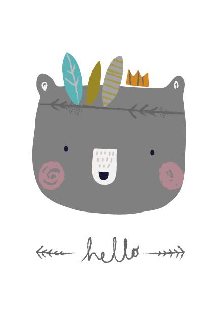 Petite Louise - Kaart 'Hello Bear'