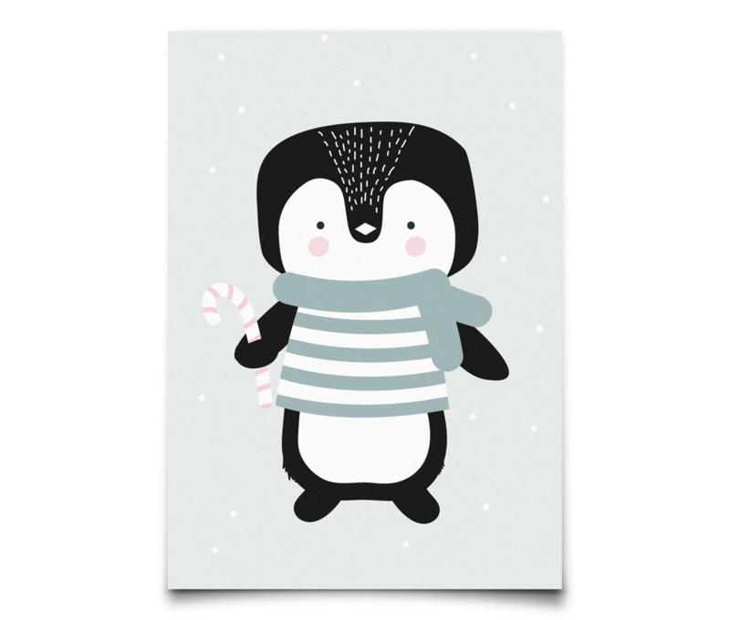 Eef Lillemor kerstkaart Winter Penquin