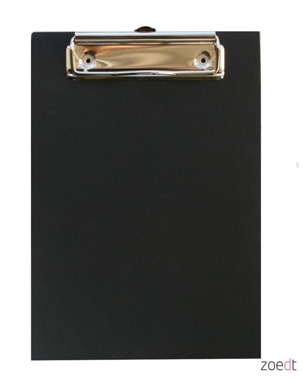 Zoedt - Houten Klembord A6 (zwart)