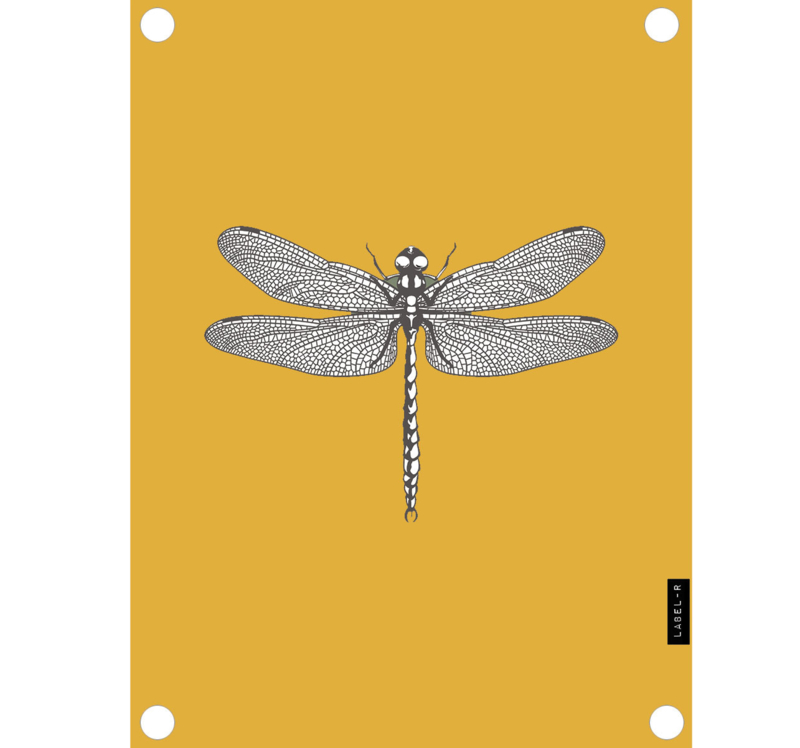 Label-R | Tuinposter Libelle (mosterdgeel)