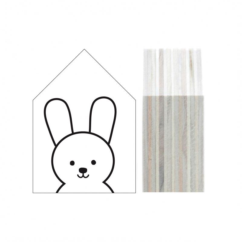 Dots Lifestyle - Houten huisje Bunny (wit)