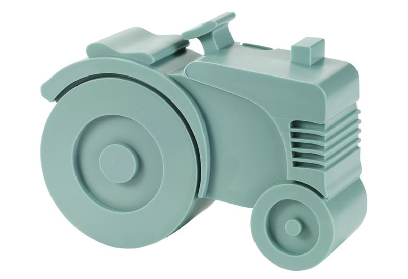 Blafre Lunchtrommel Tractor (blauwgroen)