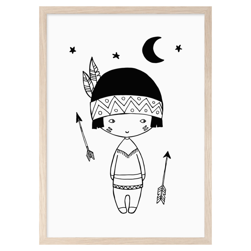 Mini Learners – Poster Little Indian (A3)